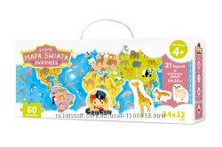 Czuczu Пазл Карта мира. Животные