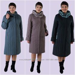 Весенний плащ-пальто с легким утеплением. 3 цвета.