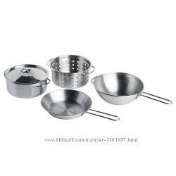 Дитячий набір посуду DUKTIG IKEA посудка дeтская, кастрюли