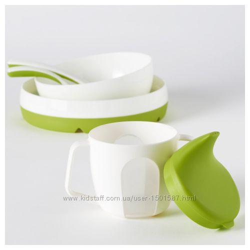 Набір дитячого посуду ІКЕА B&OumlRJA, дитячий посуд, детская посуда