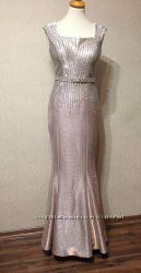 Вечернее, выпускное платье c камнями, р. S