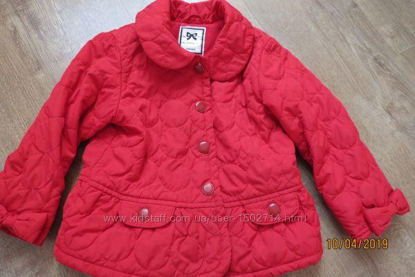 Демисезонная курточка для девочки 2-3 года на флисе
