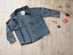 Reserved р. 110, 134, 152 джинсовая рубашка