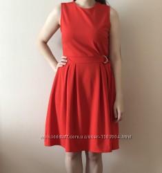 Платье Warehouse London красное коктейльное