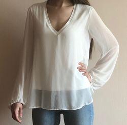 Блузка белая Zara прозрачная