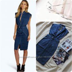 8747a6d02e3 Англия стильное джинсовое платье миди оригинал boohoo джинсове плаття міді