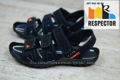 ADIDAS AGC мужские летние босоножки сандали отличное качество кожа чёрные