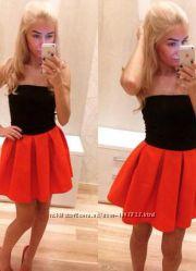 Новая красная юбка в складку, разные размеры и цвета