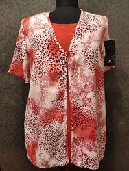 Блузка canda нарядная 100 вискоза C&A
