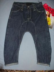 Джинсы мужские размер w 32 укороченные шорты бриджи с матней мотней w32 fen