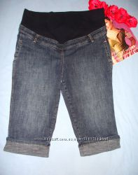 женские шорты для беременных с резинкой размер 46-48  12-14 джинсовые