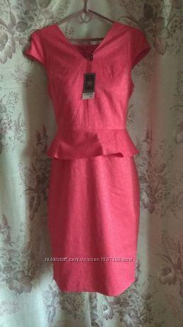 Новое, фирменное, нарядное, алое платье Next  Tall на праздник. 48-50 р.