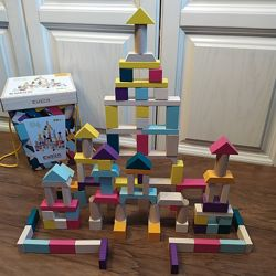 Cubika Деревянный детский эко конструктор ведро на 100 дет. Украина кубики