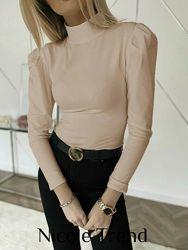 Женская кофта блузка с рукавами фонариками  42-44 46-48 размер