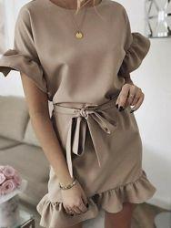 Летнее платье молодежное Kira с поясом