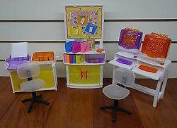 Мебель для кукол Барби Gloria Компьютерный класс