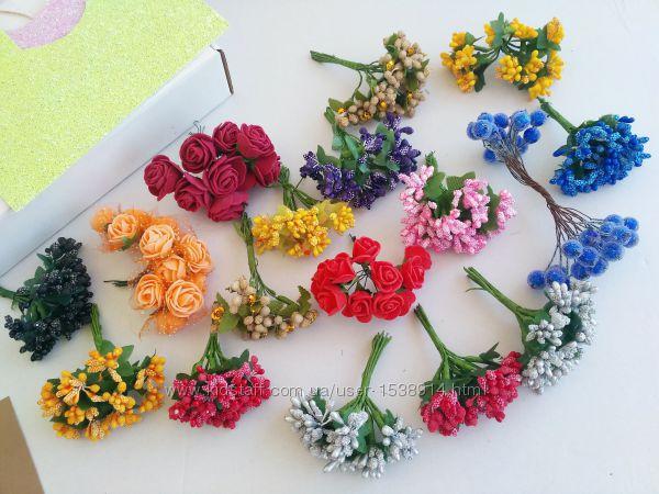 Набор тычинок и цветов