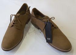 Туфли дерби eu 45 размер, f&f, us 12, uk 11, великобритания