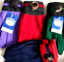 Перчатки варежки для девочек и мальчиков