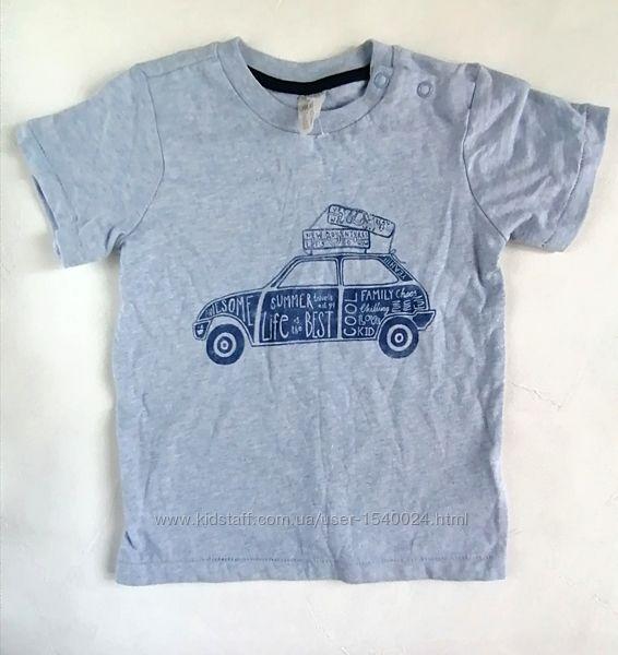 Новая футболка h&m, рост 80 см, на 9 м-1,5г