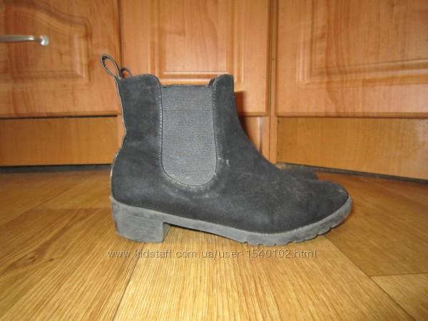 Замшевые ботинки, р. 32