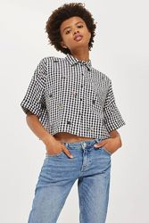 Рубашка в клетку с вышивкой