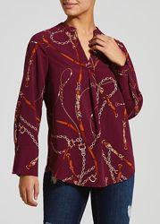 блузка с принтом цепи