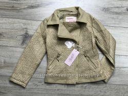 Куртка косуха для девочек, 110-140, комбинированная из экокожи, Польша