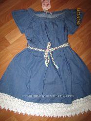 Джинсовое платье сарафан, 8-16, Венгрия