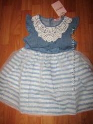 Шикарное джинсовое платье с пышной юбочкой, 3-8, Венгрия