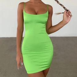 Атласное мини-платье масляного зеленого цвета Oh Polly