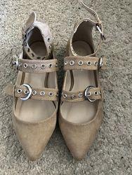 Оригинальные туфельки из замши 36рр