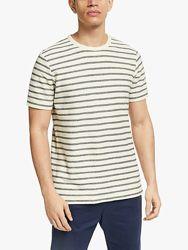 Стильная футболка в полоску из трикотажа в рубчик XXL