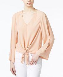 Пудровая блузка большого размера оригинального покроя George 16рр