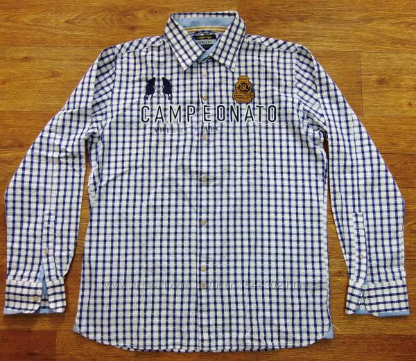 Фирменная рубашка Rivalry 48 50 L-ка 100-хлопок