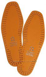 Стельки для обуви кожаные MDDRI чёрные, рыжие