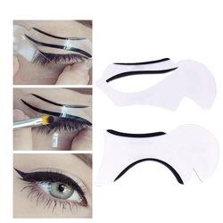 Шаблон, трафарет для макияжа, подводка глаз форма 2,4,6 стилей