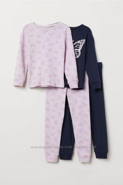 Комплектом хлопковые пижамы с бабочками на девочек, H&M