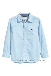 Стильная голубая рубашка на мальчика, H&M