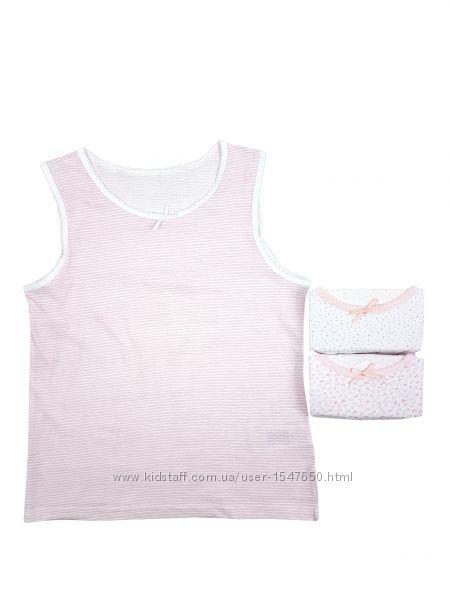 Комплект бельевых маек для девочек, майки Primark