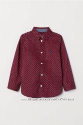 Стильная рубашка в горошек для мальчика h&m, Германия