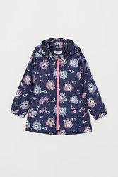 Темно-синяя ветровка с единорогами на девочек, H&M