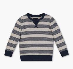 Стильный полосатый джемпер, свитер на мальчика, C&A