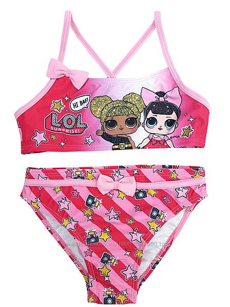 Раздельный розовый купальник с куколками лол, lol на девочек, mga , sun cit