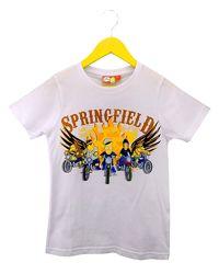 Стильная белая футболка Симпсоны на мальчика 10 - 12 лет, The Simpsons
