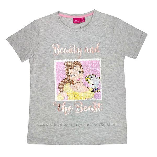 Стильная футболка с пайетками на девочку, р 152, Primark / Disney