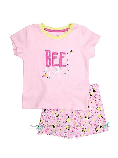 Детская летняя пижама с пчелками для девочки 1 - 1,5 года, р. 86, early day