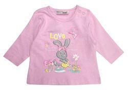 Розовый лонгслив, с зайчиком для девочки 2 - 4 месяцев, р. 62, ergee / kik