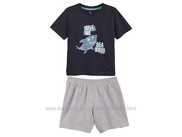 Летний костюм, пижама для мальчика, футболка и шорты lupilu