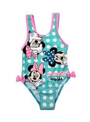 Мятный купальник в горох с Минни на девочку, Disney baby